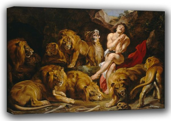 Rubens, Peter Paul: Daniel in the Lions Den. Fine Art Canvas. Sizes: A3/A2/A1 (001088)